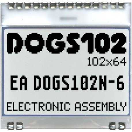 ELECTRONIC ASSEMBLY EA DOGS102W-6
